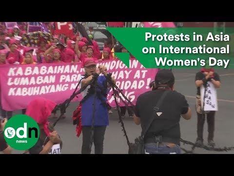 Protests in Asia on International Women's Day