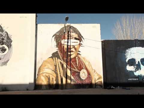 Street art for the Arctic in Barcelona
