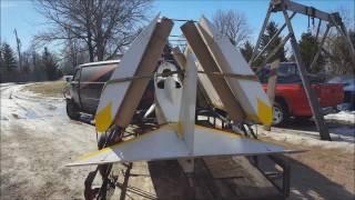 Mini-max Ultralight Airplane Winter Flight. Dead Stick Landing.