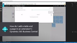 How do I add a table and a page in an extension? | Dynamics 365 Business Central