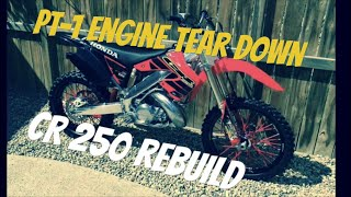CR250 2000 Honda engine rebuild (PT-1)