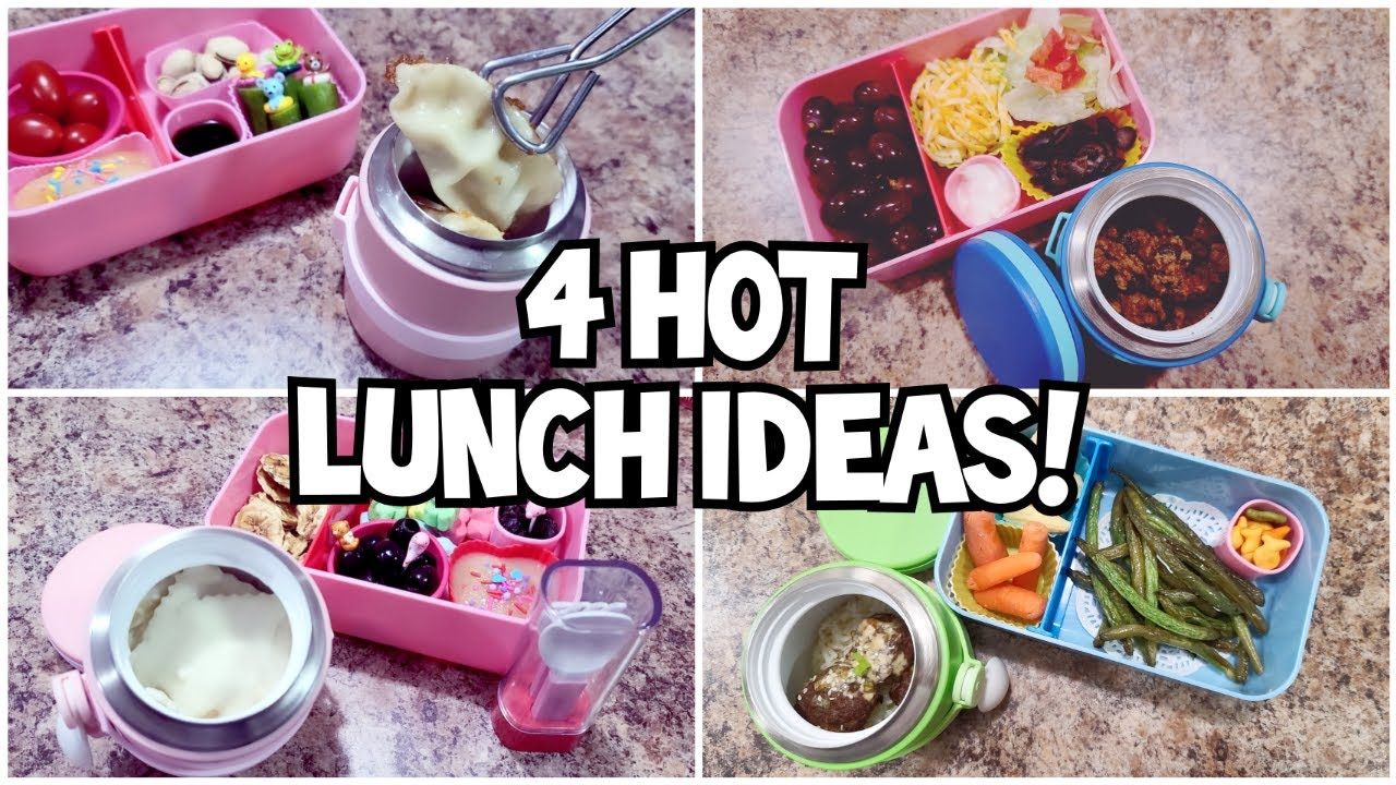 Come make 4 bento styled HOT lunches with me! - Bella Boo's Lunches