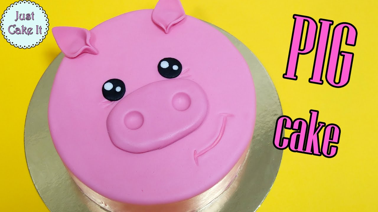 How To Make Easy Pig Cake Youtube