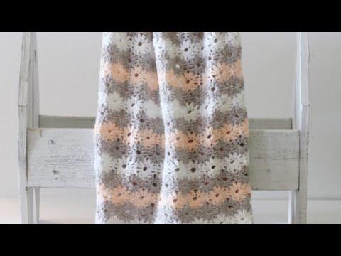 Crochet Petal Stitch Blanket