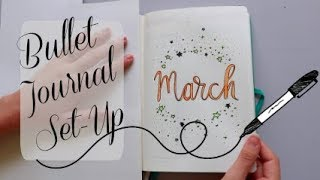 Plan With Me: March 2018 Bullet Journal Setup | Brandi Noelle