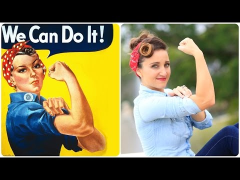 Rosie the Riveter | Halloween Hairstyles