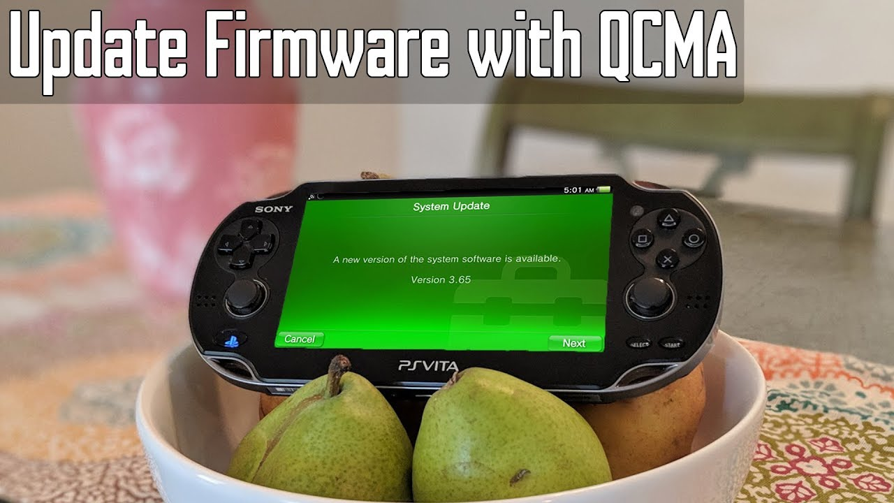 Playstation Vita: Update Firmware with QCMA