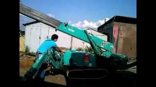 Аренда гусеничного мини крана(манипулятора).- Maeda MC 285. Монтажные демонтажные(Мини кран манипулятор, кран паук, монтажные - демонтажные работы в условиях ограниченного пространства...., 2013-07-14T20:37:12.000Z)
