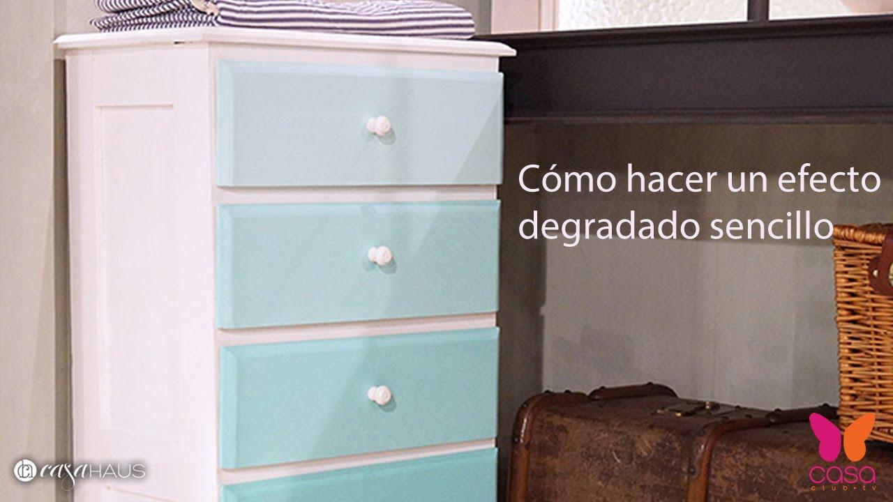 Diy c mo hacer una cajonera con efecto degradado u ombr - Muebles pintados vintage ...