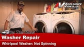 Not spinning GE washer - YouTube