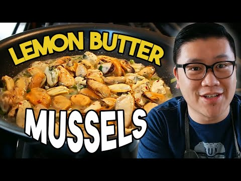 How To Make LEMON BUTTER MUSSELS With Garlic