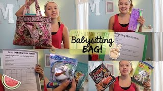 What's in my Babysitting Bag!