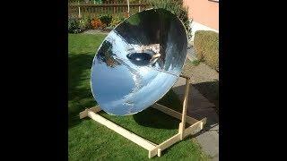 Сонячна плита з параболічного відбивача, керівництво будівництвом, частина 3