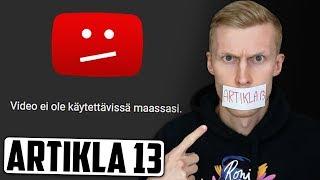 YouTube uhataan estää Euroopassa - onko se totta? #SaveYourInternet