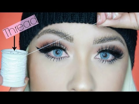 weird fill in your eyebrows with thread natural bushy brows 2017