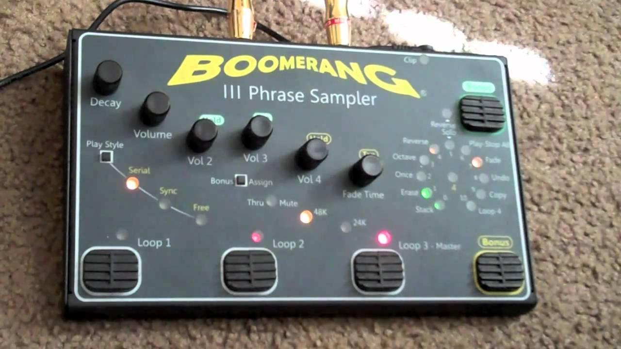 boomerang iii phrase sampler manual