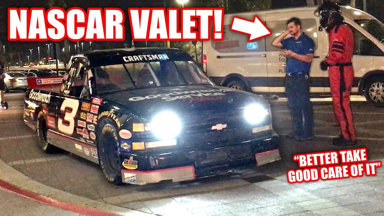 We Tried To Valet My NASCAR... They Were NOT Amused!