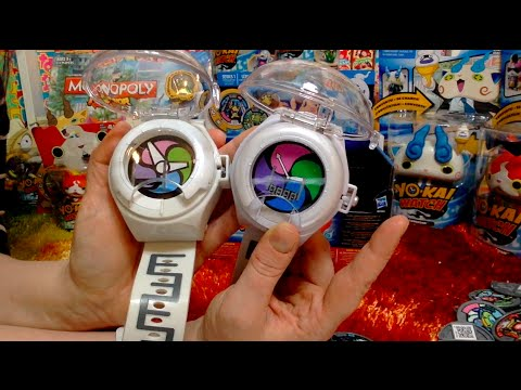 North American + Japan Yo-kai Watch Medals & Watch Comparison