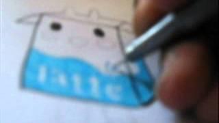 speed drawing Tokidoki characters: Leche, Riso, Soya, Strawberry Latte, and Latte
