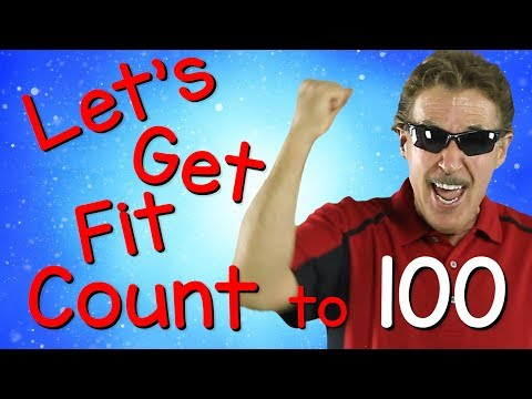Lets Get Fit  Version 3  Count to 100  Exercises for Kids  100 Days of School  Jack Hartmann