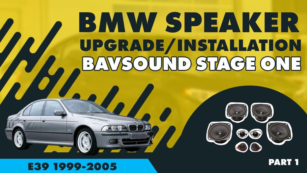 medium resolution of bavsound bmw 5 series speaker upgrade 1 4 bsw stage one e39 99 05 youtube