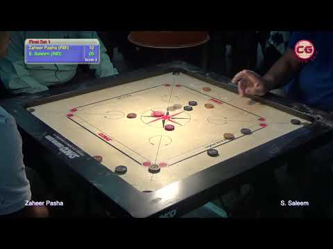 Final Set 1 Zaheer Pasha vs S  Saleem 37th karnataka Annul State Carrom Championship