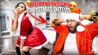 BOYFRIEND RATES MY CHRISTMAS OUTFITS !! ( VLOGMAS DAY 18)