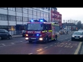 London Fire Brigade - G211 Harrow Pump Ladder responding