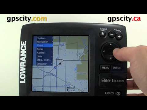 Lowrance Elite 5 DSI Video Manual- Adjust The Track, Waypoint, And Route View