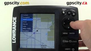 Формат Lowrance еліт 5 ДСІ відео інструкція - Настройка треку, маршруту і подивитися маршрут