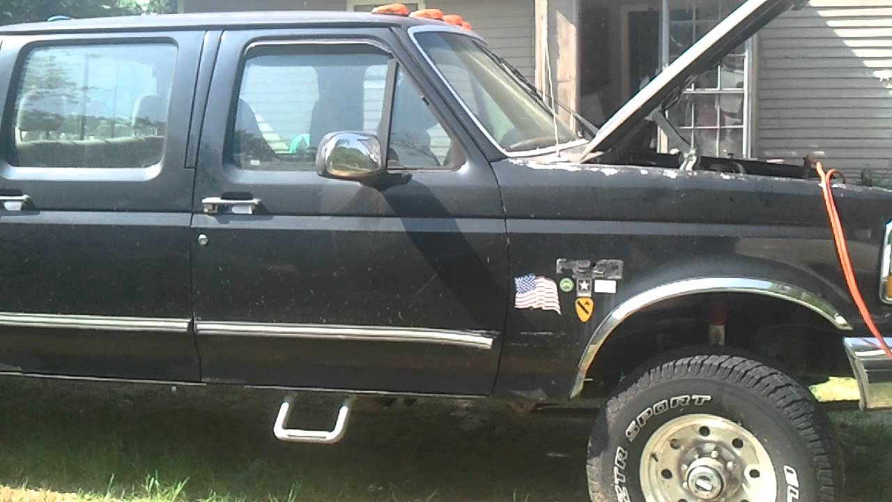 1992 ford f350 4x4 engine running