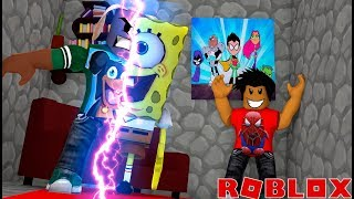 ROBLOX CARTOON TYCOON - DONUT AND BABY MAX GET RIPPED OFF - HOW TO BECOME SPONGEBOB