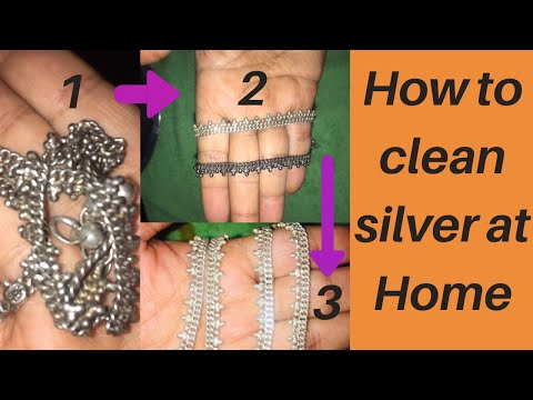 Clean Silver Item At Home | Make Your Old Silver Item To Look Like New | How To Clean Silver Items