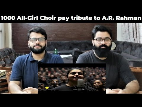 1000 All-Girl Choir pay tribute to A.R. Rahman at Bollywood Parks Dubai | PAKISTAN REACTIONS