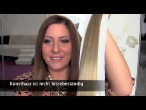Clip In Hair Extensions Kunsthaar Youtube