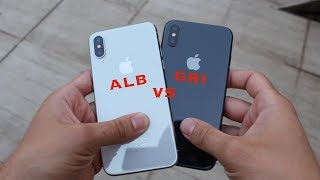 SIlver vs Space Gray iPhone X