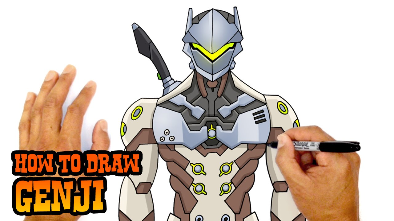 How To Draw Genji Overwatch Youtube