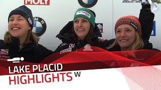 Janine Flock breaks the track record at Lake Placid | IBSF Official