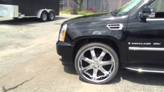 "RimTyme of Charlotte  Cadillac Escalade ESV sitting on 26"" Borghini Wheels. Thumbnail"