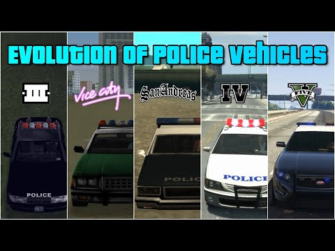 Evolution Of Police Vehicles In GTA Games | All Police, FIB & SWAT Vehicles.