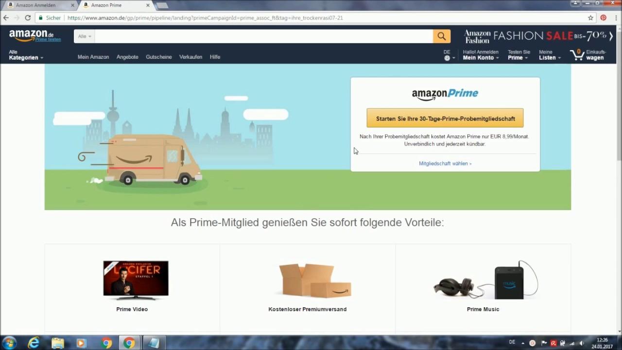 Amazon Prime Testen