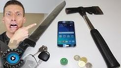 Samsung Galaxy S6 Display Hammer & Messer Test [Deutsch]