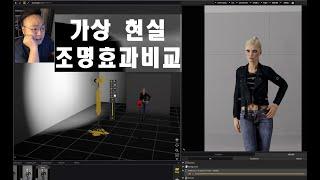 화보촬영수업3-1, 가상현실을 이용한 조명툴 효과 비교…