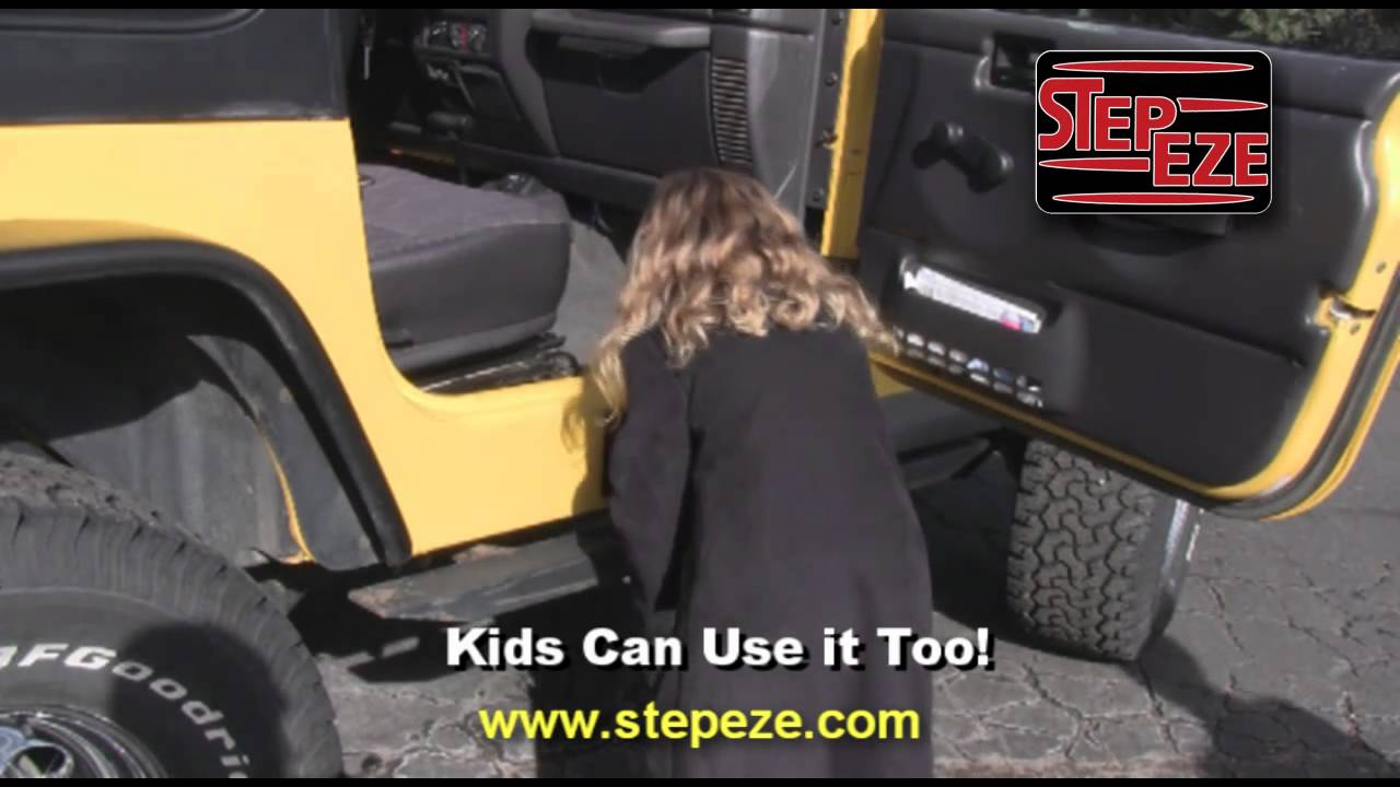 Folding Removable Jeep Step Stepeze Cj Yj Tj Youtube