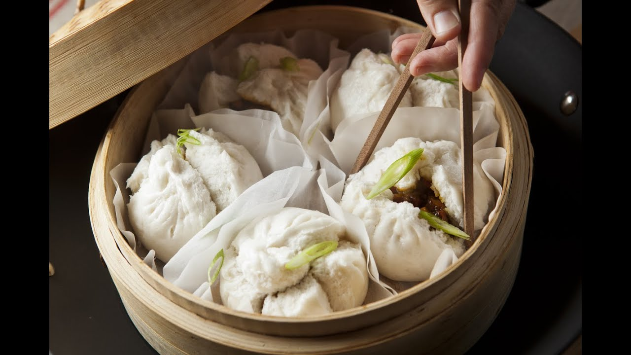 Chinese Steamed Pork Buns Recipe Banh Bao Pork Belly Steamed