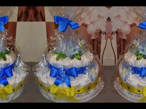 Торт из памперсов.  Cake of diapers.