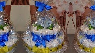 Торт из памперсов.  Cake of diapers.(В этом видео я покажу вам какой подарочек можно сделать к рождению малыша. https://vk.com/id82698381 https://vk.com/club69170389., 2014-06-20T01:17:26.000Z)
