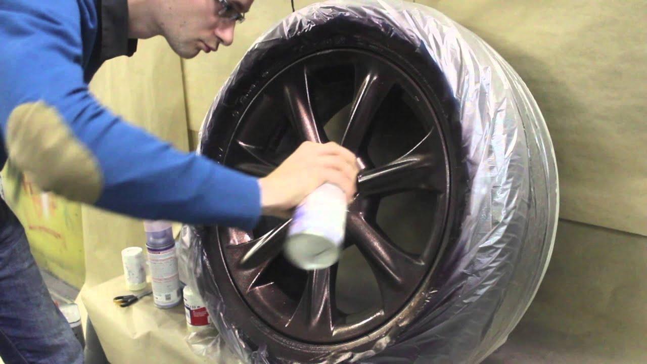 Как окрасить диск в Plasti Dip. Plasti Dip Metalizers Violet, Red, Blue and Green