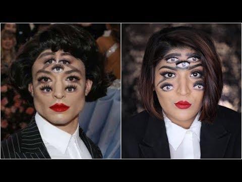 Ezra Miller Met Gala 2019 Trippy Makeup Tutorial   #RecreationWeek   Shreya Jain