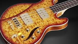 "Warwick Custom Shop Masterbuilt - Sklar Bass I 1"" AAAA Quilted Maple Top Honey Sunburst #16-3315"